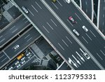 aerial view of highway and... | Shutterstock . vector #1123795331
