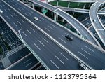 aerial view of highway and... | Shutterstock . vector #1123795364