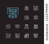 optimization icons set. social...