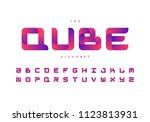 trendy alphabet desgin. eps10... | Shutterstock .eps vector #1123813931