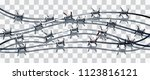 barbed seamless on a... | Shutterstock .eps vector #1123816121