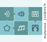 sound icon set and audio with...