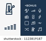 music icon set and shuffle with ...
