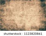 grunge background brown | Shutterstock . vector #1123820861