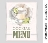 vector flyer  cover menu | Shutterstock .eps vector #1123822127