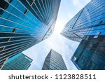 modern office building in urban | Shutterstock . vector #1123828511
