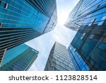 modern office building in urban | Shutterstock . vector #1123828514