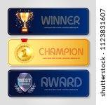 vector poster design for winner ... | Shutterstock .eps vector #1123831607