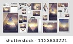 stock vector set kit collection ... | Shutterstock .eps vector #1123833221