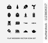 modern  simple vector icon set... | Shutterstock .eps vector #1123834217