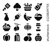 food related set of 16 icons...   Shutterstock .eps vector #1123839755