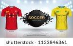 football cup 2018 world... | Shutterstock .eps vector #1123846361