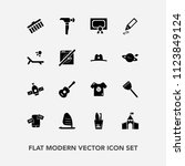 modern  simple vector icon set... | Shutterstock .eps vector #1123849124
