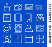interface related set of 16... | Shutterstock .eps vector #1123852535