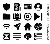 interface related set of 16...   Shutterstock .eps vector #1123853021
