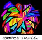 pattern  decorative element ...   Shutterstock . vector #1123853567