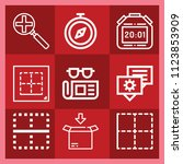 interface related set of 9... | Shutterstock .eps vector #1123853909
