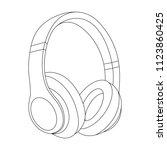 headphones vector illustration  ... | Shutterstock .eps vector #1123860425