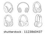 headphones vector illustration  ... | Shutterstock .eps vector #1123860437