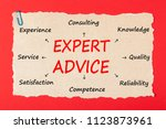expert advice written on old... | Shutterstock . vector #1123873961