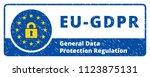 eu gdpr label illustration | Shutterstock .eps vector #1123875131