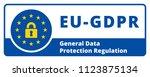 eu gdpr label illustration | Shutterstock .eps vector #1123875134
