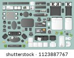 icons set of interior.... | Shutterstock .eps vector #1123887767