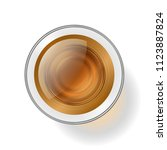 vector illustration. a glass... | Shutterstock .eps vector #1123887824