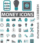 money icons set  vector | Shutterstock .eps vector #112388834