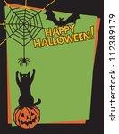 halloween design of a playful... | Shutterstock . vector #112389179