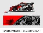 rally car decal design vector.... | Shutterstock .eps vector #1123892264