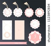 wedding set. design templates.... | Shutterstock .eps vector #1123892834