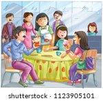 kids story illustration | Shutterstock . vector #1123905101