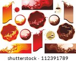 collection labels . splashes of ... | Shutterstock .eps vector #112391789