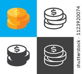 dollar coin icons | Shutterstock .eps vector #1123920074