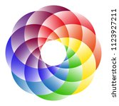 logo rainbow circle. the symbol ... | Shutterstock .eps vector #1123927211