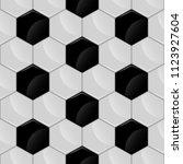 seamless from soccer ball. mesh.... | Shutterstock .eps vector #1123927604