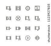filmstrip icons. set of line... | Shutterstock .eps vector #1123927835