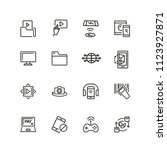 discovery icons. set of line... | Shutterstock .eps vector #1123927871