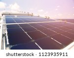 solar cell generated electrical ... | Shutterstock . vector #1123935911