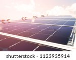 solar cell generated electrical ... | Shutterstock . vector #1123935914