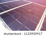 solar cell generated electrical ... | Shutterstock . vector #1123935917