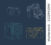 old photographic machines.... | Shutterstock .eps vector #1123941044