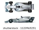 3d f1 race car render | Shutterstock . vector #1123965251