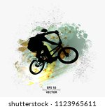 young male bicycle jumper.... | Shutterstock .eps vector #1123965611