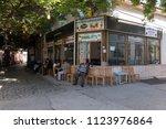 ayvalik  turkey   october 14 ... | Shutterstock . vector #1123976864