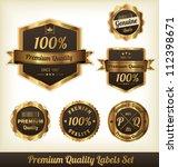 premium quality labels | Shutterstock .eps vector #112398671