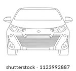 car isolated illustration icon... | Shutterstock .eps vector #1123992887