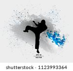 young male warrior. healthy... | Shutterstock .eps vector #1123993364