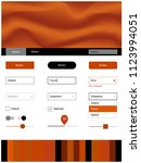 dark orange vector ui ux kit...